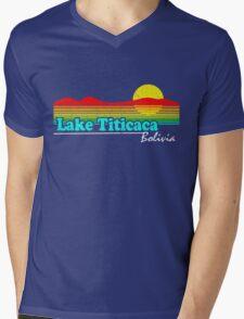 Funny Lake Titicaca, Bolivia (Vintage Distressed) Mens V-Neck T-Shirt