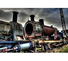 Rusting Engine Boiler Photographic Print