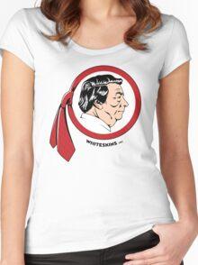 WhiteskinsOrg Logo Shirt (Light) Women's Fitted Scoop T-Shirt