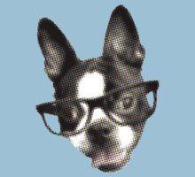 Hipster Boston Terrier (Pop Art Pixel Design) Kids Clothes