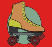 Retro Skate - Orange Baby Tee