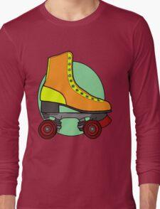 Retro Skate - Orange Long Sleeve T-Shirt