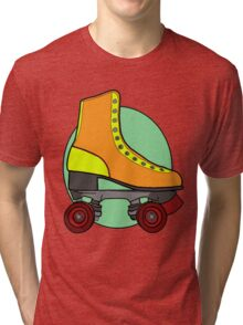 Retro Skate - Orange Tri-blend T-Shirt