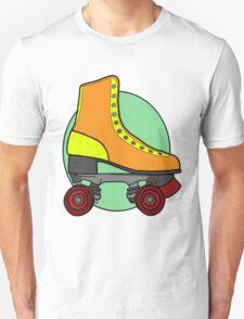 Retro Skate - Orange Unisex T-Shirt