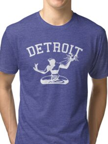 Spirit of Detroit (Vintage Distressed Design) Tri-blend T-Shirt