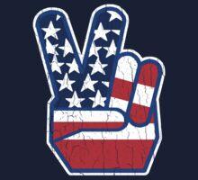 USA Flag Peace Hand (Vintage Distressed Design) Kids Clothes