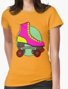 Retro Skate - Pink Womens Fitted T-Shirt
