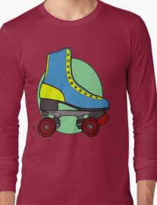 Retro Skate - Blue Long Sleeve T-Shirt