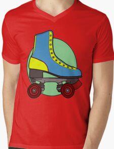 Retro Skate - Blue Mens V-Neck T-Shirt