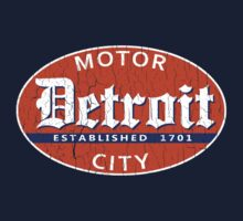 Vintage Detroit (Distressed Design) Kids Clothes