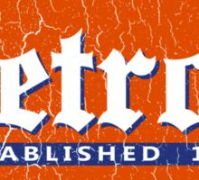 Vintage Detroit (Distressed Design) Sticker