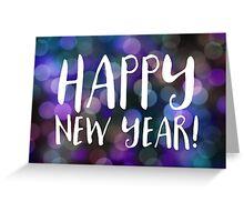 happy new year bokeh Greeting Card