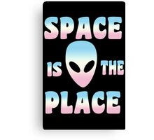 Space Is The Place Alien Girls funny nerd geek geeky Canvas Print