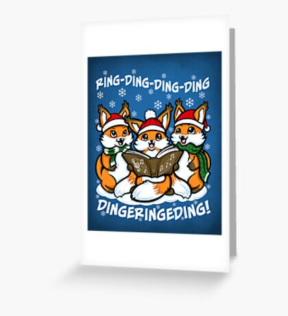 """""""What does the Fox Sing"""" Greeting Card"""