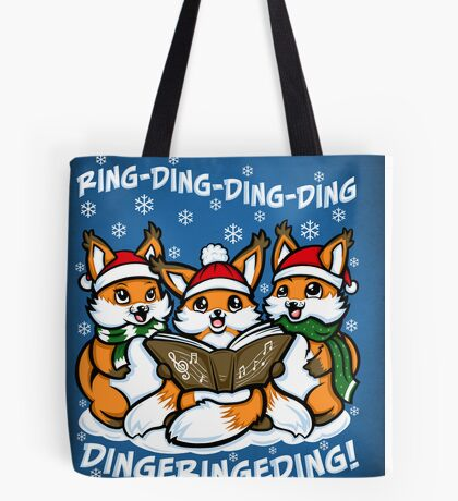 """""""What does the Fox Sing"""" Tote Bag"""
