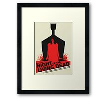 George A. Romero's Night of the Living Dead Movie Poster  Framed Print