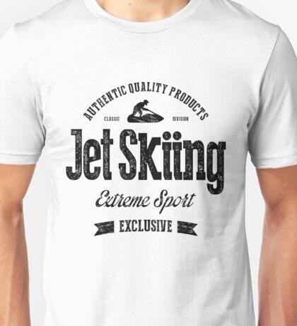 JetSkiing Extreme Sport Black Art Unisex T-Shirt