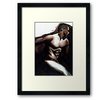 Male Torso Framed Print