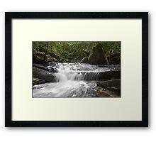 Upper Irrawong Reserve waterfall Framed Print