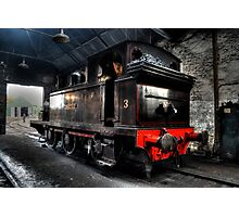 No 3 Twizell Steam Engine Rear Photographic Print