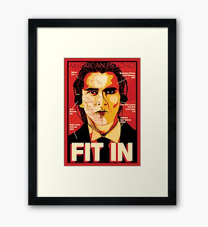 American Psycho: Fit In Movie Poster Framed Print