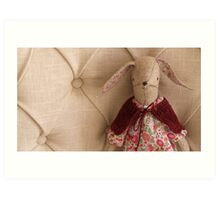 Maggie Rabbit with Cape Art Print