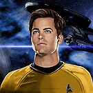 Chris Pine-Captain James T. Kirk by Andrew Wells