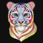 Lisa Frank Rainbow Tiger by everlander