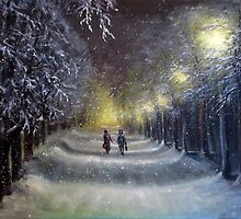 Winter night lights  by Natalja Picugina