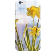 Birth Month Flower - March - Daffodil (Narcissus) iPhone Case/Skin