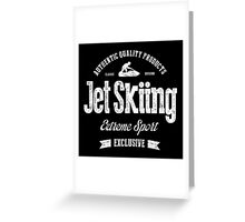 JetSkiing Extreme Sport White Art Greeting Card