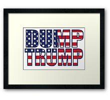 Patriotic Dump Trump  Framed Print