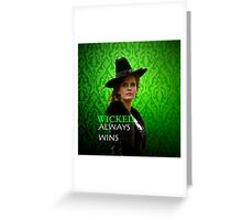 Wicked Rebecca Mader) Greeting Card