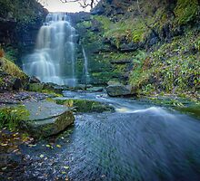 Black Clough Waterfall by Angie Morton