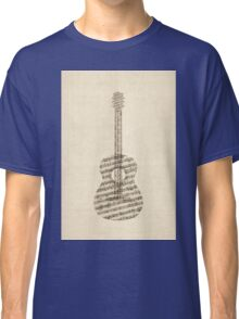 Acoustic Guitar Old Sheet Music Classic T-Shirt