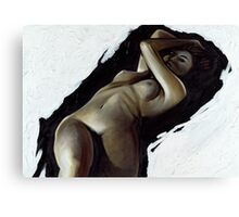 Reclining female Canvas Print