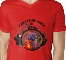 Fire fighter camera vintage gifts  Mens V-Neck T-Shirt