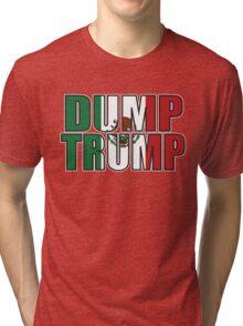 Dump Trump Mexican Flag Tri-blend T-Shirt