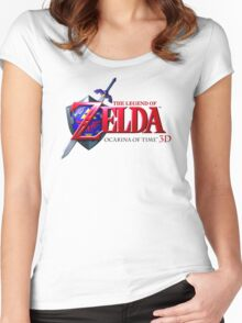 Zelda Ocarina of Time Women's Fitted Scoop T-Shirt