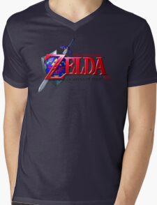 Zelda Ocarina of Time Mens V-Neck T-Shirt