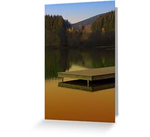 Romantic evening at the lake V | waterscape photography Greeting Card