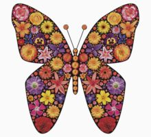 Flowers butterfly silhouette Kids Clothes