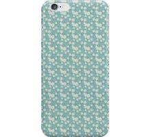 Flowers, Petals, Blossoms - Blue White iPhone Case/Skin