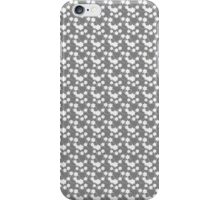 Flowers, Petals, Blossoms - Gray White iPhone Case/Skin
