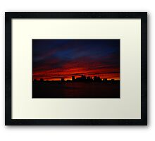 Boston Twilight Framed Print