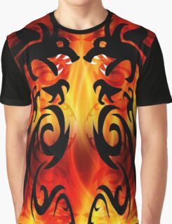 DRAGONS FIGHTING Graphic T-Shirt
