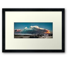 Sawtells Stormy Sunset Framed Print