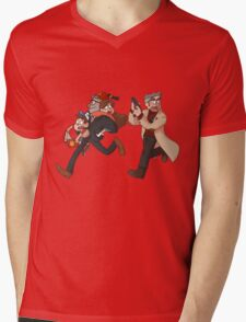we have fun here Mens V-Neck T-Shirt