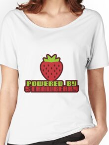POWERED BY STRAWBERRY Women's Relaxed Fit T-Shirt