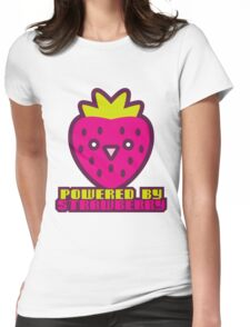 POWERED BY STRAWBERRY Womens Fitted T-Shirt